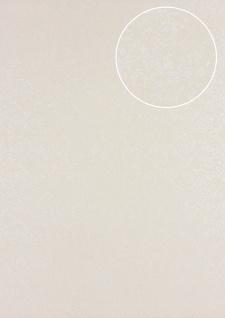 Barock Tapete Atlas PRI-498-2 Vliestapete glatt mit Ornamenten glänzend beige hell-elfenbein perl-weiß 5, 33 m2