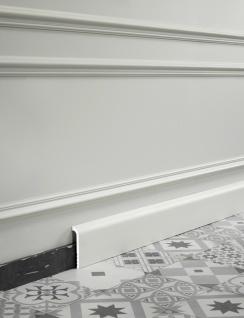 Sockelleiste Orac Decor SX185 LUXXUS CASCADE Zierleiste Stuckleiste Modernes Design weiß 2m - Vorschau 3