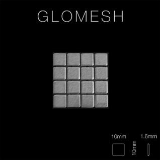 Mosaik Fliese massiv Metall Edelstahl gebürstet in grau 1, 6mm stark ALLOY Glomesh-S-S-B 1, 07 m2 - Vorschau 2