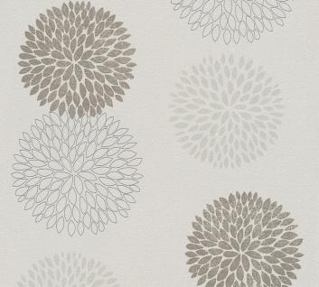 Blumen Tapete Profhome 372643-GU Vliestapete leicht strukturiert mit floralen Ornamenten matt braun grau beige 5, 33 m2