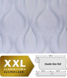 Grafik Tapete Vliestapete EDEM 954-27 XXL geschwungene Linien-Ornamente Matt-Glanz-Optik Ton-in-Ton Hell-lila 10, 65 qm
