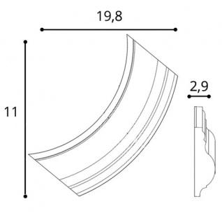 Wandleiste Stuck Orac Decor P801C LUXXUS Eckelement Zierleiste für Friesleiste Rahmen Spiegel Profil Wand Dekor Element - Vorschau 2