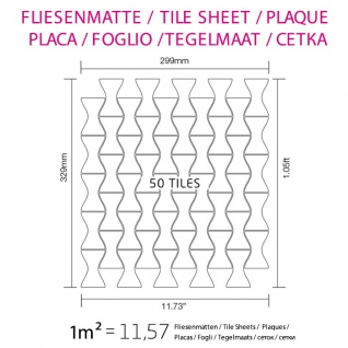 Mosaik Fliese massiv Metall Edelstahl hochglänzend in grau 1, 6mm stark ALLOY Kismet-S-S-M Designed by Karim Rashid 0, 86 m2 - Vorschau 4