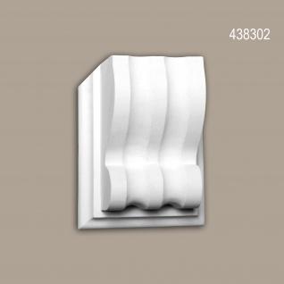Modillon 438302 Profhome Außenstuck Zierelement Fassadenelement Zeitloses Klassisches Design weiß