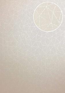 Grafik Tapete ATLAS XPL-590-3 Vliestapete strukturiert mit geometrischen Formen schimmernd creme beige hell-elfenbein perl-weiß 5, 33 m2