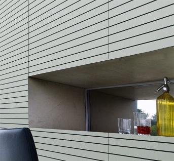 Selbstklebendes Wandpaneel abriebfest WallFace 18585 RIGATO gebürstete Metalloptik Querstreifen silber schwarz 2, 6 qm - Vorschau 3