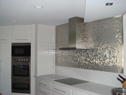 Mosaik Fliese massiv Metall Edelstahl marine gebürstet in grau 1, 6mm stark ALLOY Swiss Cross-S-S-MB 0, 88 m2 - Vorschau 5