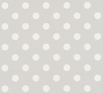 Kinder Tapete Profhome 369342-GU Vliestapete glatt mit geometrischen Formen matt grau weiß 5, 33 m2