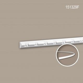 Wand- und Friesleiste PROFHOME 151329F Stuckleiste Flexible Leiste Zierleiste Neo-Klassizismus-Stil weiß 2 m