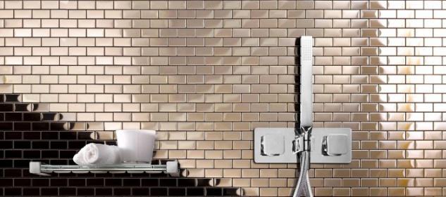 Mosaik Fliese massiv Metall Edelstahl hochglänzend in grau 1, 6mm stark ALLOY House-S-S-M 0, 98 m2 - Vorschau 5