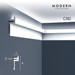 Eckleiste Orac Decor C382 MODERN L3 Indirekte Beleuchtung Zierleiste Modernes Design weiß 2m