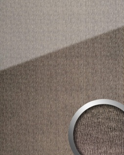 Wandpaneel Glas-Optik WallFace 20215 CURVED Silver AR+ Wandverkleidung glatt in Leder-Optik spiegelnd selbstklebend abriebfest grau silber 2, 6 m2