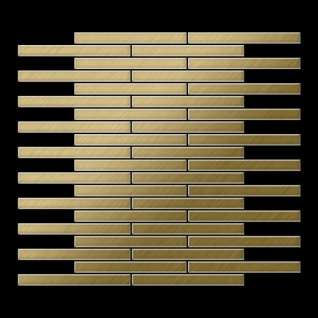 Mosaik Fliese massiv Metall Titan gebürstet in gold 1, 6mm stark ALLOY Deedee-Ti-GB 0, 63 m2 3