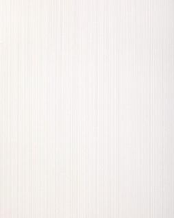 Streifen-Tapete EDEM 557-10 Hochwertige Tapete strukturiert in Textiloptik matt rein-weiß grau-weiß 5, 33 m2