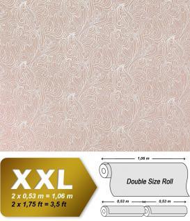 Barock Vliestapete XXL Tapete EDEM 698-93 Designer Imperial Versailles Paisley Metallic-Muster braun weiß 10, 65 qm
