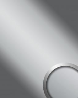 Wandpaneel Spiegel Design Glanz-Optik WallFace 15421 DECO SILVER Wandverkleidung abriebfest selbstklebend silber 2, 6 qm