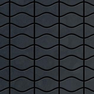 Mosaik Fliese massiv Metall Rohstahl gewalzt in grau 1, 6mm stark ALLOY Kismet & Karma-RS Designed by Karim Rashid 0, 86 m2
