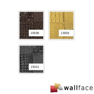 1 MusterstÜck S-15031-sa Wallface Collage Nero Leather Collection   Wandpaneel Muster In Ca. Din A4 Größe - Vorschau 3