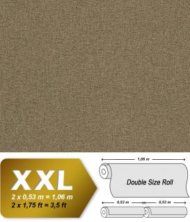 Textiloptik Tapete EDEM 9163-08 heißgeprägte Vliestapete geprägt mit Struktur schimmernd oliv 10, 65 m2