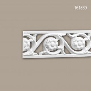 Wand- und Friesleiste PROFHOME 151369 Stuckleiste Zierleiste Friesleiste Rokoko Barock Stil weiß 2 m