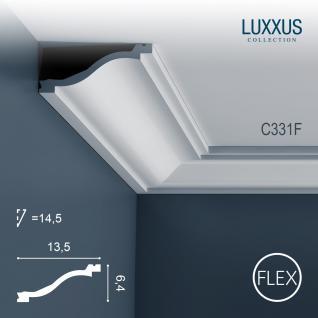 Dekor Profil Orac Decor C331F LUXXUS flexible Leiste Eckleiste Zierleiste Decken Stuck Gesims Dekorleiste 2 Meter
