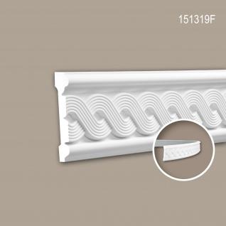 Wand- und Friesleiste PROFHOME 151319F Stuckleiste Flexible Leiste Zierleiste Neo-Klassizismus-Stil weiß 2 m