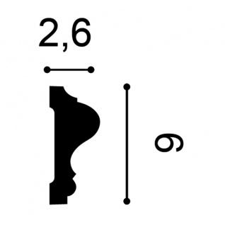 Wandleiste Stuck Orac Decor P8020F LUXXUS flexible Wandprofil Profil Friesleiste Dekor Leiste Zierleiste Wand | 2 Meter - Vorschau 2