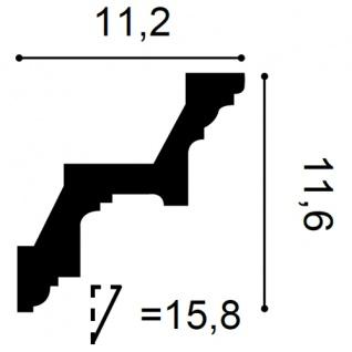 Zierleiste Orac Decor C211 LUXXUS Eckleiste Stuckleiste Profilleiste Stuckdekor Decken Wand Leiste | 2 Meter - Vorschau 2