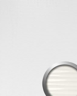 Wandverkleidung 3D Wellen-Struktur WallFace 15764 MOTION TWO Design Kunststoff Wandverkleidung selbstklebend weiß | 2, 60 qm