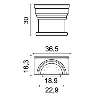 Stuck Halbsäule Orac Decor K1111 LUXXUS Kapitell halbes Kapitell Wand Dekor Element Polyurethan stoßfest - Vorschau 2