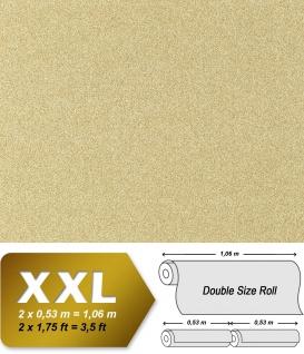 Stein Vliestapete EDEM 998-33 XXL Granitputz Struktur Naturstein Mosaikputz gesprenkelt sandgelb weiß 10, 65 qm