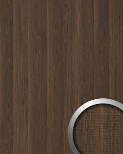 Wandpaneel Holz Optik WallFace 19030 NUTWOOD Nussbaum Holzdekor naturgetreue Haptik Wandverkleidung selbstklebend dunkelbraun 2, 60 qm