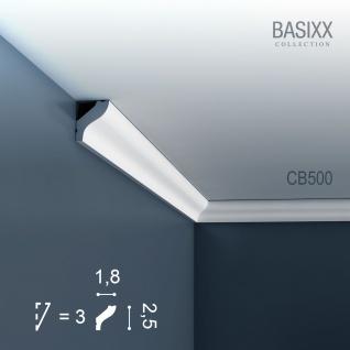 Eckleiste Stuck Orac Decor CB500 BASIXX Stuckleiste Zierleiste Stuck Leiste Dekor Element Wand Decken Leiste 2 Meter