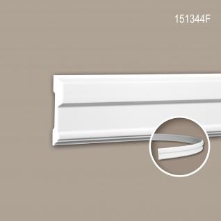 Wand- und Friesleiste PROFHOME 151344F Stuckleiste Flexible Leiste Zierleiste Neo-Klassizismus-Stil weiß 2 m
