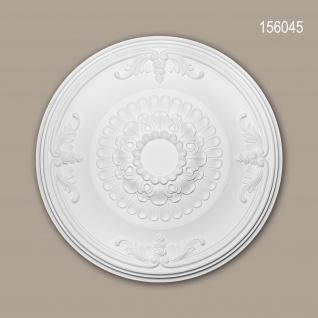 Rosette PROFHOME 156045 Zierelement Deckenelement Neo-Empire-Stil weiß Ø 66, 3 cm