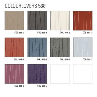 Edle Streifen Tapete Atlas COL-568-0 Vliestapete glatt Design schimmernd grau stein-grau silber 5, 33 m2 - Vorschau 4