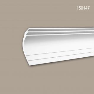 Eckleiste PROFHOME 150147 Zierleiste Stuckleiste Modernes Design weiß 2 m