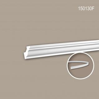 Eckleiste PROFHOME 150130F Zierleiste Flexible Leiste Stuckleiste Neo-Klassizismus-Stil weiß 2 m
