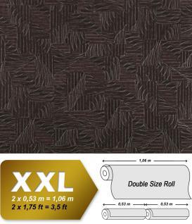 Grafik Vliestapete EDEM 913n-29 XXL Textilgewebe Flechtwerk hochwertige Designer Tapete silber aubergine 10, 65 qm