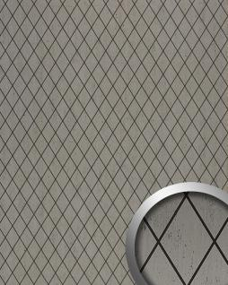 Wandverkleidung Rombo Mosaik Dekor selbstklebend WallFace 17853 LINEA Wandpaneel Design platin grau schwarz   2, 60 qm