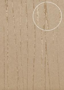 Streifen Tapete Atlas COL-567-2 Vliestapete glatt Design schimmernd grau beige-grau stein-grau 5, 33 m2