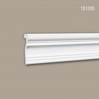Wand- und Friesleiste PROFHOME 151355 Stuckleiste Zierleiste Friesleiste Neo-Klassizismus-Stil weiß 2 m