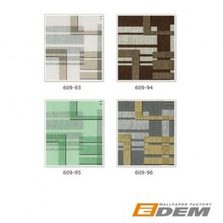 Grafische Muster Retro Tapete Vliestapete EDEM 609-96 70er Tapete XXL Designer 3D Retro Muster abstrakt grau silber gold 10, 65 qm - Vorschau 5