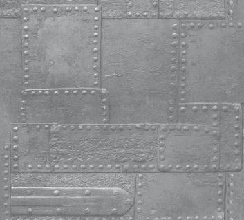 3D Tapete Profhome 364943-GU Vinyltapete glatt im Used Look matt silber grau 5, 33 m2