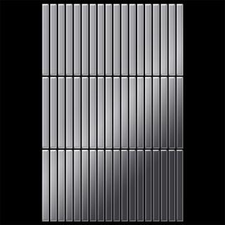 Mosaik Fliese massiv Metall Edelstahl hochglänzend in grau 1, 6mm stark ALLOY Linear-S-S-M 0, 94 m2 - Vorschau 3