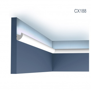 Eckleiste Orac Decor CX188 AXXENT Eckleiste für Indirekte Beleuchtung Zierleiste Stuckleiste modernes Design weiß 2 m
