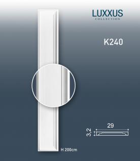 Pilaster Stuck Orac Dekor K240 LUXXUS Schaft Wand Dekor Element leicht und stabil aus Hartschaum weiß | 2 Meter