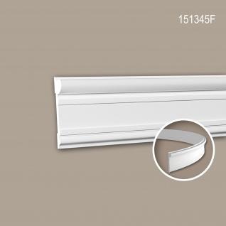 Wand- und Friesleiste PROFHOME 151345F Stuckleiste Flexible Leiste Zierleiste Neo-Klassizismus-Stil weiß 2 m