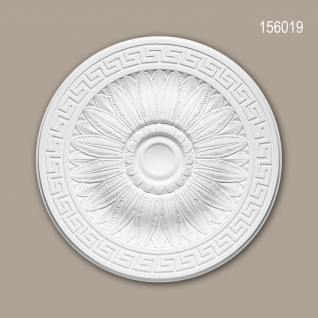 Rosette PROFHOME 156019 Zierelement Deckenelement Neo-Klassizismus-Stil weiß Ø 51, 0 cm