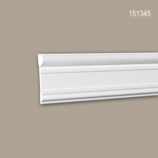 Wand- und Friesleiste PROFHOME 151345 Stuckleiste Zierleiste Wandleiste Neo-Klassizismus-Stil weiß 2 m